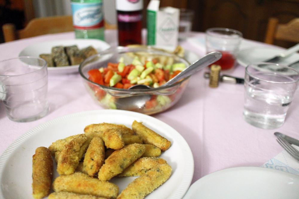 ジョルジオの手料理と母のパンツェロッティ